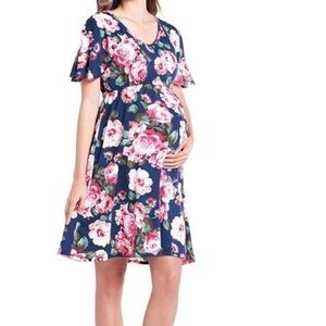 Dresses & Skirts - Floral maternity peonies dress